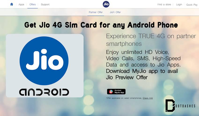 Free Reliance Jio 4G