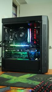 Corsair 110R side view with RGB Components